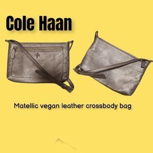 Cole Haan Matellic vegan leather crossbody bag